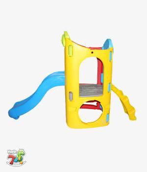 مجموعه پلی اتیلنی تک برج با صخره نوردی - تجهیزات مهد کودک و خانه بازی نوین تویز