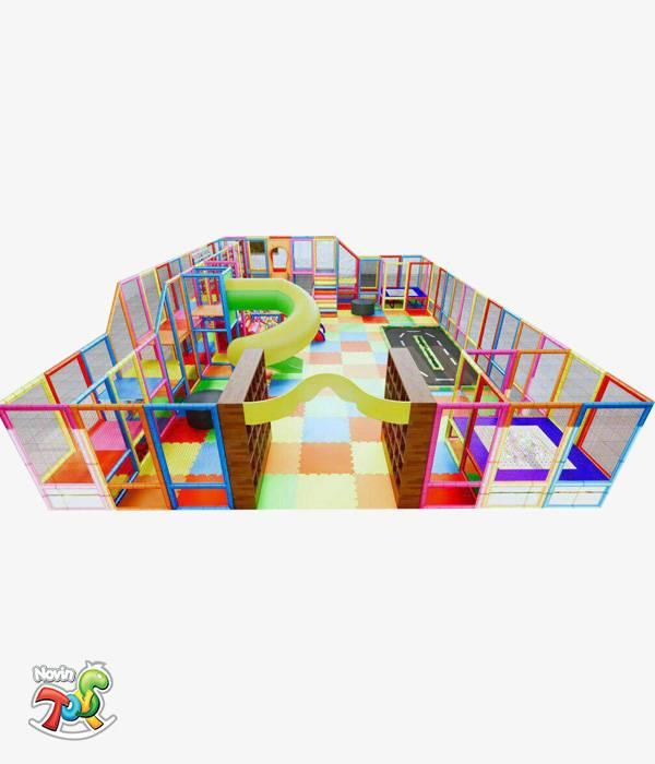سافت پلی گراند کودک NT17 - تجهیزات مهد کودک و خانه بازی نوین تویز