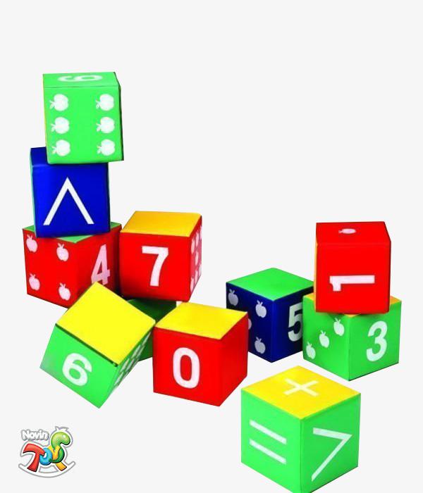ست 12 تکه مکعب های ریاضی - محصولات فومی یز