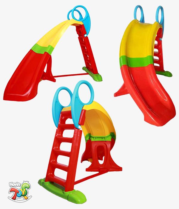سرسره 5 پله کودک ساحل - تجهیزات مهد کودک و لوازم خانه بازی نوین تویز